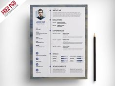 Inspiring Photoshop Resume Template Pictures best free resume templates for designers Photoshop Resume Template. Here is Inspiring Photoshop Resume Template Pictures for you. √ Ultimate Collection Of Free Resume Templates Css Author Dow. Cv Templates Free Download, Best Free Resume Templates, Free Professional Resume Template, Resume Template Examples, Simple Resume Template, Resume Design Template, Resume Ideas, Infographic Resume Template, Free Resume Builder