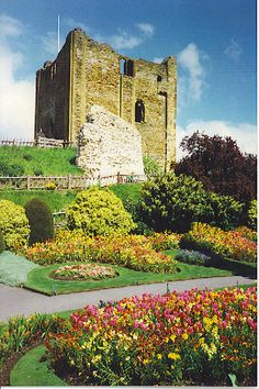 :Guildford Castle and Gardens .Surrey, England. Built shortly after the invasion of England in 1066 by William the Conqueror