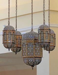 Arab lanterns at Naif Souk Dubai by Ihsaan Adams Moroccan Design, Moroccan Decor, Moroccan Style, Moroccan Bedroom, Moroccan Lighting, Moroccan Lanterns, Motif Oriental, Decoration Evenementielle, Indian Interiors