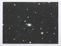 Galaxy, by Vija Celmins. Lithograph on paper, 1975