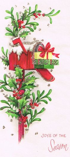 Vintage Christmas Card * 1500 free paper dolls toys at Arielle Gabriels The International Paper Doll Society Christmas gift for Pinterest pals also free Asian paper dolls The China Adventures of Arielle Gabriel Merry Christmas to Pinterest users *