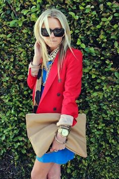 What to Wear Red Jacket with