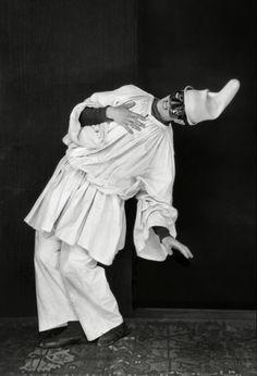 * Léonide Massine as Pulcinella in Pulcinella, 1920.  photo Emil Otto HOPPÉ (1878-1972)