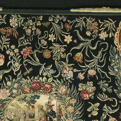 Tafelkleed met de geschiedenis van Jozef en een bloemenpatroon, anoniem, Jan Snellinck (I), Michiel Coxie (I), 1652 - tulp-Verzameld werk van Marlene - Alle Rijksstudio's - Rijksstudio - Rijksmuseum