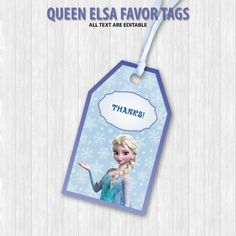 Queen Elsa Favor Tags by DigitalDesignChile on Etsy