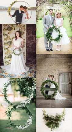 Alternative Wedding Flower Ideas Hoop Wreath | For full list of image credits please see the blog feature on the website.