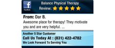 Awesome place for therapy!  They motivate you and are very helpful.