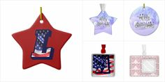 Ornaments with #monograms #initials #addname #ornaments from A to Z #alphabet #createyourown #personalize #Christmas #Zazzle #Zazzlemade