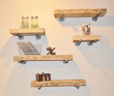 Reclaimed Barn Wood Floating Shelf - Build Your Own Set!