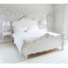 Provencal Sassy White French Bed..... exactly what I want!