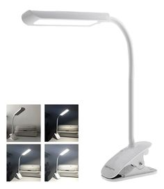 Dimmable Gooseneck LED Clamp Desk Lamp, Touch ON/OFF, 3 Stage ...