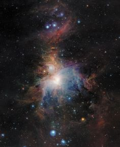 The Orion nebula is the closest significant 'stellar nursery' to Earth in which stars at all stages of early evolution may be found. #Siru's Orione #Lamps owe their name to this wonderful constellation!