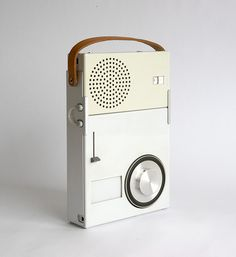 Dieter Rams | Braun TP1, Portable Transistor Radio and Phonograph, 1959