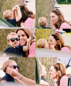 One-year-old Prince Louis, son of Kate Middleton and Prince William, looked cool in sunglasses at the King Power Royal Charity Polo Day at Billingbear Polo Club, where he watched his dad and uncle Prince Harry play in the charity match. George Et Charlotte, Princess Charlotte, Kate Middleton Prince William, Prince William And Catherine, Royal Uk, Royal Life, Baby Prince, Prince And Princess, Real Princess