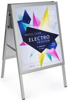 """22"""" x 28"""" Sidewalk Sign with LED Lights, Snap Frame, Rechargeable Battery…"""