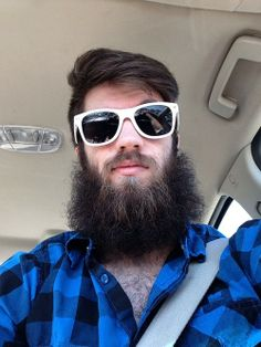 the-wildebeast - one of my favorite beards on the internet - beard full thick fluffy bearded men man stylish style glasses flannel plaid handsome #beardsforever