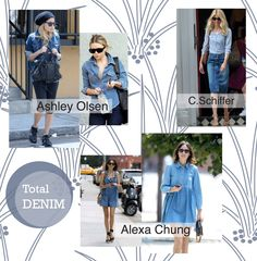 Ponte de Moda: Tendencia total denim 2013