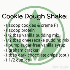 Cookie Dough shake with Herbalife http://www.goherbalife.com/carla-dean                                                                                                                                                      More