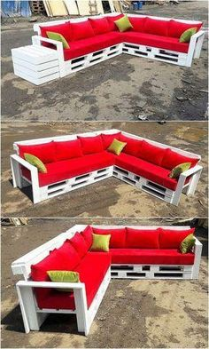 Check out this lovely patio couch designing with the availing use of the old shipping pallets in it. This couch design is dramatic included with the f. Brilliant Ideas to Make Out of Reused Wooden Pallets Pallet Furniture Outdoor Couch, Diy Garden Furniture, Pallet Sofa, Furniture Decor, Modern Furniture, Rustic Furniture, Antique Furniture, Outdoor Pallet, Furniture Design