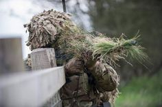 A sniper's spotter from the 2nd Battalion The Royal Anglian Regiment observes his surroundings [960  640]