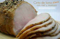Jugando a las cocinitas: Cinta de lomo al horno con mostaza y miel