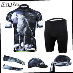 46.50$  Buy here - http://ali8s9.worldwells.pw/go.php?t=32254386550 - AOGDA Cycling 3D GEL Padded Shorts + Bicycle Jersey T Shirt +Caps Hats Armwarmers Sleeves + Hat Cap Cycling Jersey Set for Men