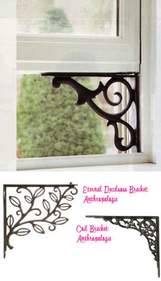 Yep this is genius!  This decorated shelf bracket turns into a window holder for those summer days.