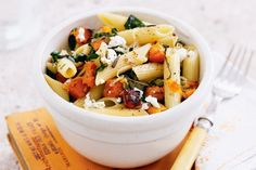 Pasta is a classic family favourite - this low-fat, vegetarian version features pumpkin, leeks and silverbeet.