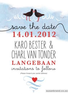Love the fonts and colors of this Save the Date poster