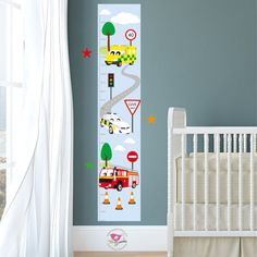 Colourful Wall Art for Height Measure Personalised Height Chart for Kids Pirates Sticker Growth Wall Decal Vinyl For Boys Bedroom Nursery Childrens Blue Grey StickersMagic