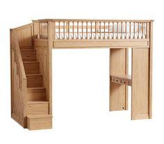 me ~ Fillmore Stair Loft Attic Renovation, Attic Remodel, Do It Yourself Sofa, Loft Bed Plans, Loft Stairs, Built In Desk, Built Ins, Bedroom Loft, Raised Bedroom