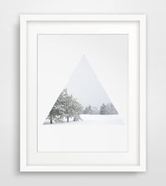 Wall Art Winter Photography White Decor Snow by MelindaWoodDesigns