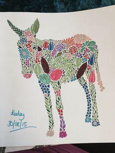 Donkey from Millie Marotta's Animal Kingdom Colouring Book