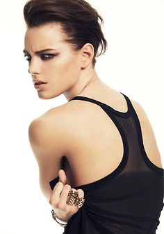 The model is Erika Linder, and she is the answer to all of your prayers. #literally