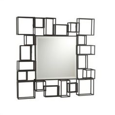 Cube Frame Wall Mirror | Overstock.com Shopping - The Best Deals on Mirrors