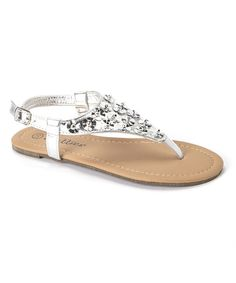 Take a look at this Silver Floral Sandal on zulily today!