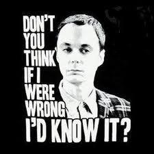 Me in Sheldon form