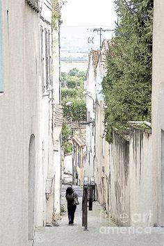 Streetscene in Castelnaudary in France