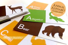 Printable Alphabet Flashcards  Animal от SMagnoliaBoutique на Etsy, $5.00