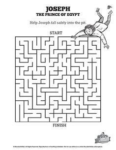 The Story Of Joseph the Prince of Egypt Bible Mazes: If your kids like a fun challenge, then they are going to love these story of Joseph the prince of Egypt Bible mazes. These printable Bible activity pages are perfect for your Genesis 37-50 Sunday school lesson on Joseph and his brothers.