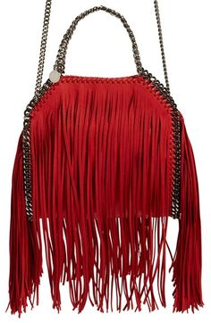 Stella McCartney 'Mini Falabella' Fringed Tote