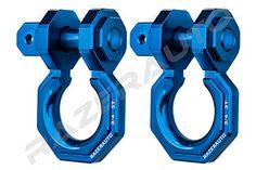 Razer Auto Falcon X Precision Blue Billet Aluminum Ton D-Ring Bow Shackle 1 Pair - Rugged Ton Capacity (Blue) Jeep Wrangler Yj, Jeep Jk, Jeep Wrangler Unlimited, Jeep Truck, Pickup Trucks, Cool Truck Accessories, Ram Accessories, Vehicle Accessories, Offroad Accessories