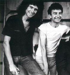 Brian May and John Deacon