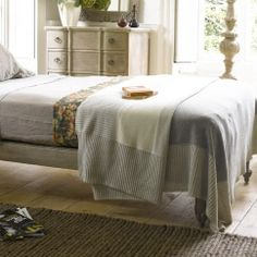 The Sleep Room Juno – Gorgeous Natural Bedspread Juno in beige - Blankets & throws | Loaf