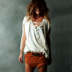 adventure style shorts and top