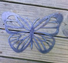 Metal wall art Butterfly plasma cut rustic wall by TheSassiStamper, $15.00