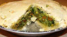 Super fácil tarta de brócoli y otros vegetales
