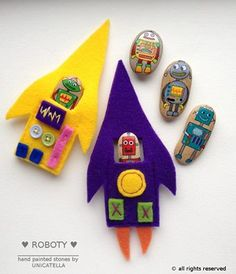 Story Stones and their Felt Rocketships