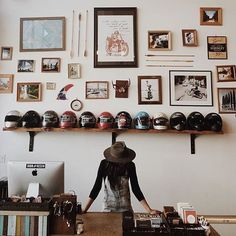 Come on down to our flagship at 7 Columbus in San Francisco. and are holding down the fort and dispensing high fives this weekend. by ironandresin Motorbike Store, Motorcycle Shop, Cafe Racer Girl, Coffee Shop Design, Cafe Style, Estilo Retro, Cafe Shop, Visual Display, Shop Interiors