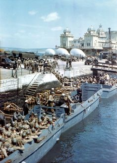 Next Stop: Pointe Du Hoc and Omaha Beach – Amazing Color Pictures of the 2nd Rangers embarking in Weymouth